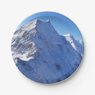 Mount Cook (Aoraki) Peak, New Zealand 7 Inch Paper Plate