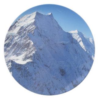Mount Cook (Aoraki) Peak, New Zealand Dinner Plates