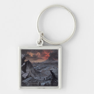 Mount Doom Silver-Colored Square Keychain
