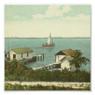 MOUNT DORA, FL -Boat House Row, 1907 Poster