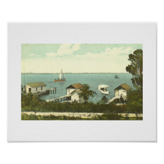 Mount Dora, FL, Boat House Row, 1907 Poster