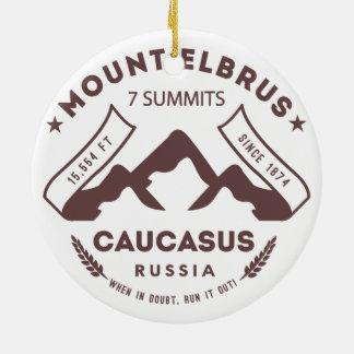 Mount Elbrus Caucasus Russia Ceramic Ornament