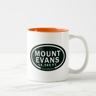 Mount Evans 14,265 FT Colorado Rocky Mountain Two-Tone Coffee Mug