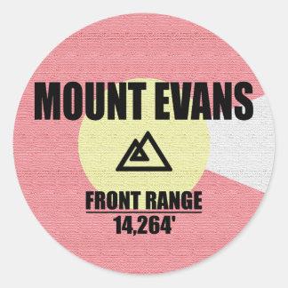 Mount Evans Classic Round Sticker