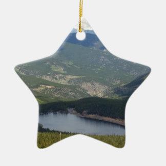 Mount Evans, Colorado Ceramic Ornament