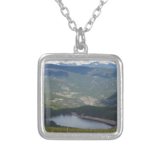 Mount Evans, Colorado Silver Plated Necklace