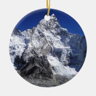 Mount Everest 2 Round Ceramic Ornament