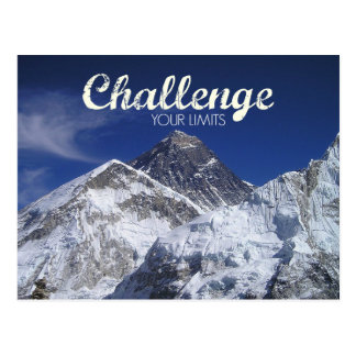 Mount Everest Challenge Your Limits Postcard