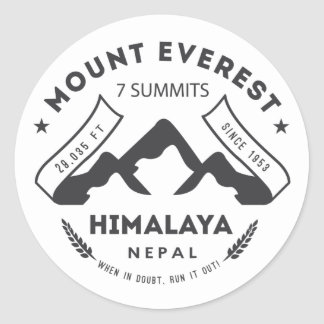 Mount Everest Classic Round Sticker