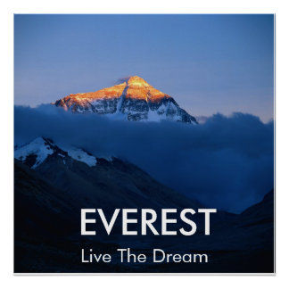 Mount Everest Sunset Poster
