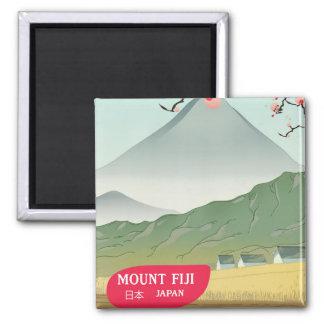 mount fiji Japan vintage travel print Magnet