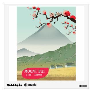 mount fiji Japan vintage travel print Wall Sticker