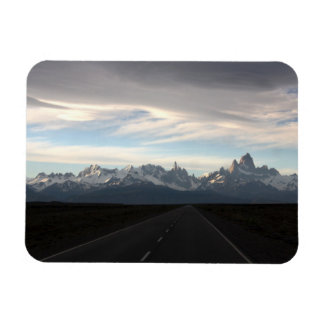 Mount Fitz Roy And Andes Range Rectangular Photo Magnet