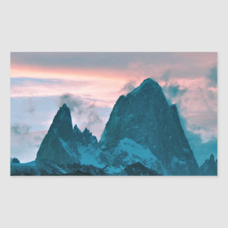 Mount Fitz Roy, Patagonia, Argentina at dusk Sticker