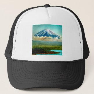 Mount Fuj beyond Lake Motos Vintage Japan 富士山 Trucker Hat