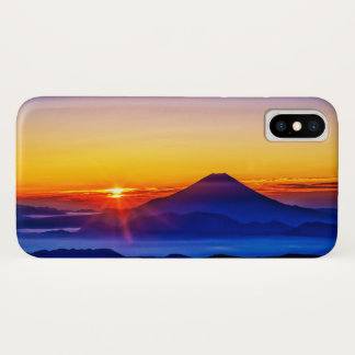Mount Fuji and Sunset iPhone X Case
