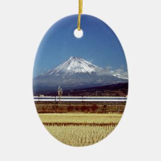 Mount Fuji Ceramic Ornament