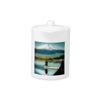 Mount Fuji from Lake Yamanaka 富士 Vintage