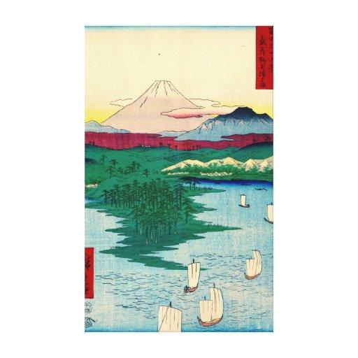 Mount Fuji from Yokohama 1858 Gallery Wrap Canvas