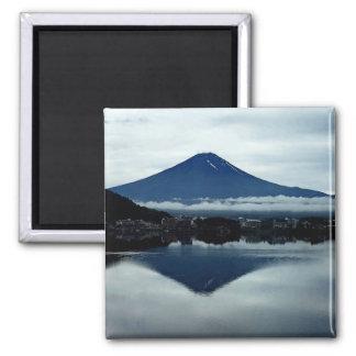 Mount Fuji Japan 2 Inch Square Magnet