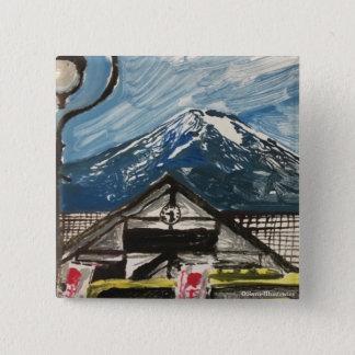 Mount Fuji Japan Button