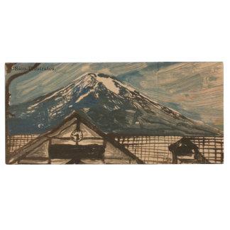 Mount Fuji Japan Wooden USB Flashdrive Wood USB Flash Drive