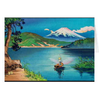 Mount Fuji Japanese Woodblock - Beautiful Card