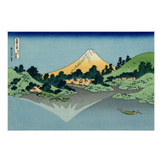 Mount Fuji Reflected in Lake Kawaguchi Poster