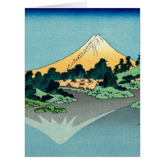 Mount Fuji reflects Card