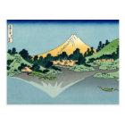 Mount Fuji reflects in Lake Kawaguchi (by Hokusai) Postcard