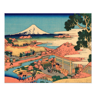 Mount Fuji seen from the tea plantation Photo Print