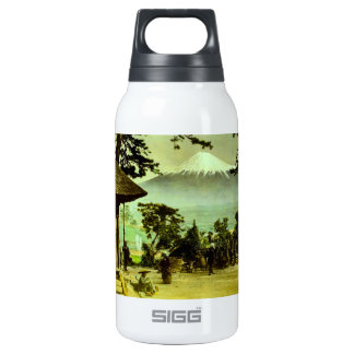 Mount Fuji through the Pines of Suzukawa Vintage Insulated Water Bottle