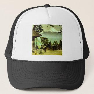 Mount Fuji through the Pines of Suzukawa Vintage Trucker Hat