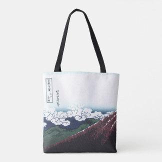 Mount Fuji Ukiyo-e by Hokusai, Japanese Tote Bag