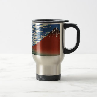 Mount Fuji Volcano Japan Painting Travel Mug