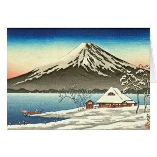 Mount Fuji Winter 1890 Card