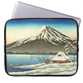 Mount Fuji Winter 1890 Laptop Sleeve