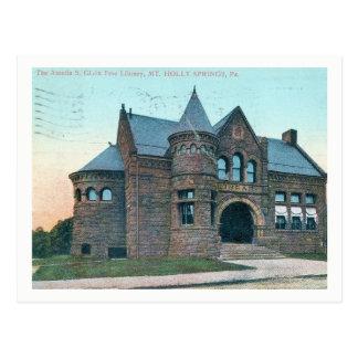 Mount Holly Springs, Pennsylvania, Library Vintage Postcard