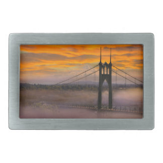Mount Hood by St Johns Bridge during Sunrise Belt Buckles