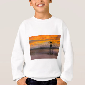 Mount Hood by St Johns Bridge during Sunrise Sweatshirt