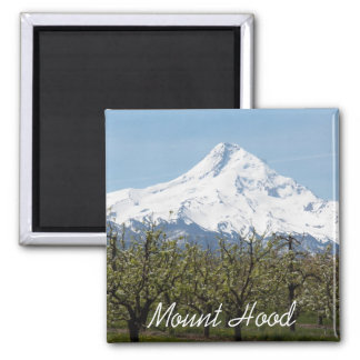 Mount Hood Orchards Photo Square Magnet