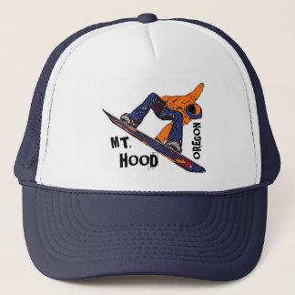 Mount Hood Oregon orange blue snowboard hat