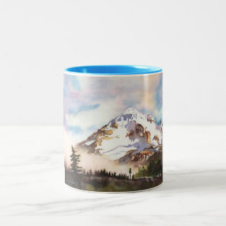 Mount Hood Oregon Two-Tone Coffee Mug