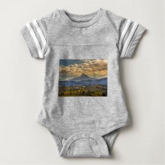 Mount Hood Over Farmland in Hood River in Fall Baby Bodysuit