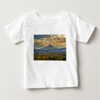 Mount Hood Over Farmland in Hood River in Fall Baby T-Shirt