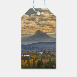 Mount Hood Over Farmland in Hood River in Fall Gift Tags