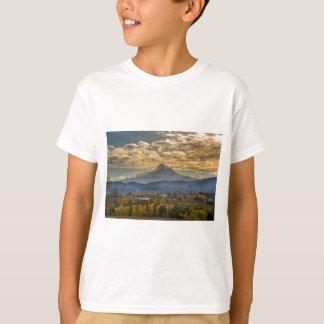 Mount Hood Over Farmland in Hood River in Fall T-Shirt