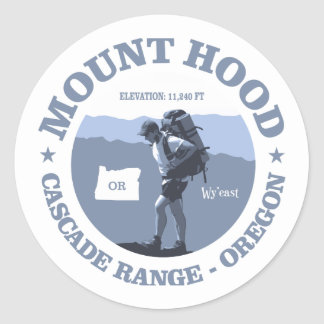 Mount Hood (rd) Classic Round Sticker
