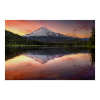 Mount Hood Reflection on Trillium Lake Poster
