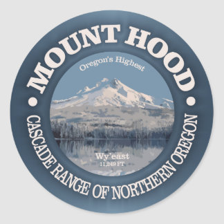 Mount Hood (winter) Classic Round Sticker